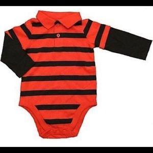 (5/$25) Garanimals Striped Polo onesie
